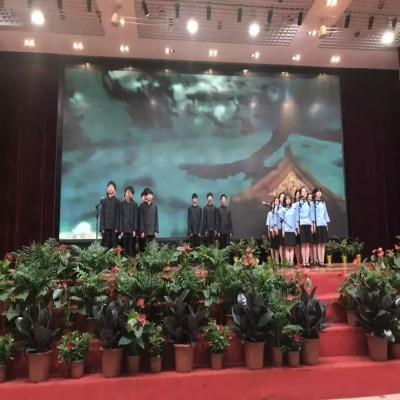 永福园参加洪庙中学庆六一活动